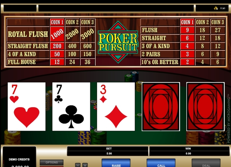 Poker Pursuit game
