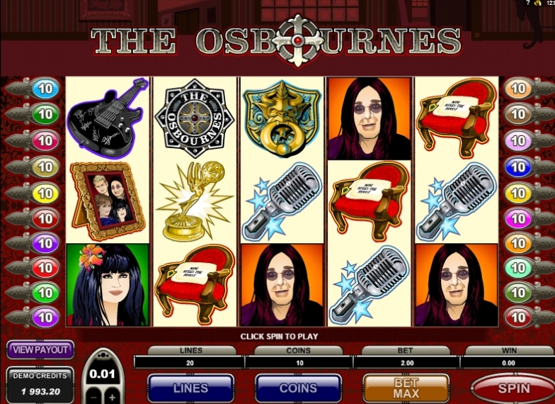 The Osbournes slot machine