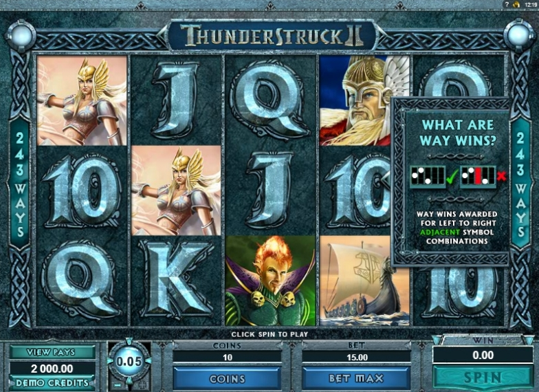 Thunderstruck II slot machine