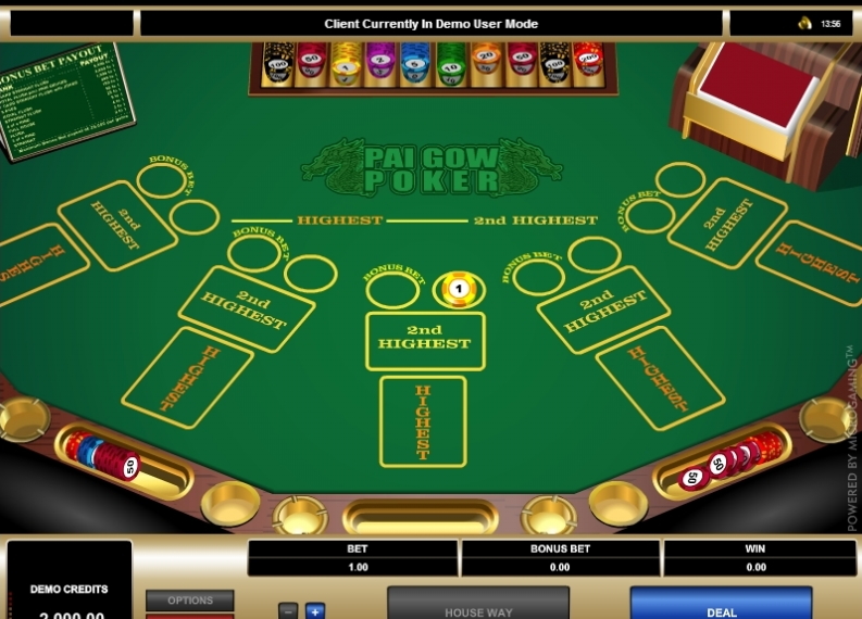 Pai Gow Poker game